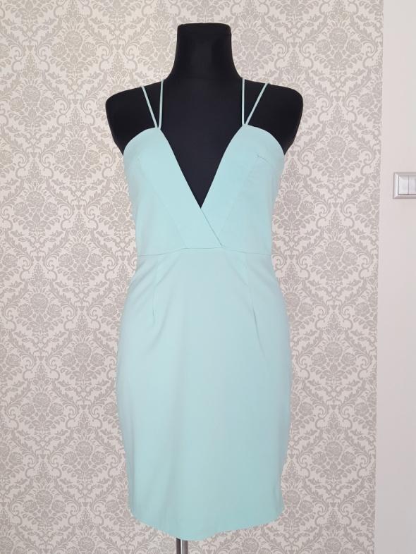 turkusowa sukienka AQ AQ...