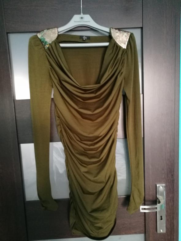 Zielona sukienka khaki rozmiar 34 New Yorker