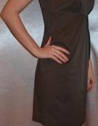 ołówkowa sukienka brązowa...