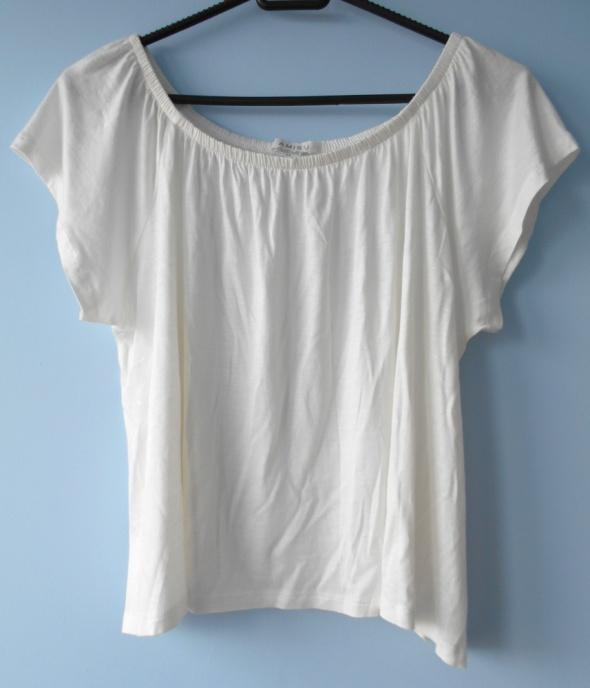 Bluzki Amisu luźna bluzka biała oversize