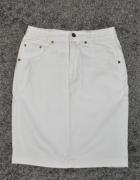 biała jeansowa spódnica...