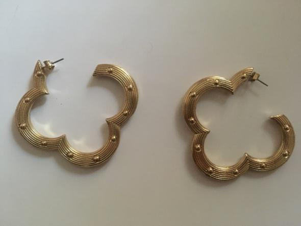 złote kolczyki H&M