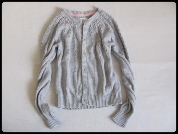 H&M Sweter kardigan szary z warkoczami 38 M...