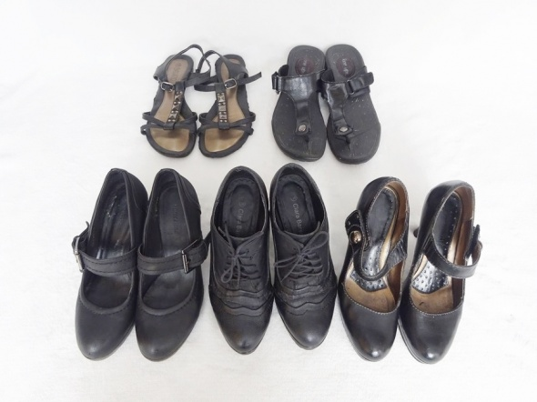 zestaw butów 4 plus 1 czyli 5 sztuk czółenka botki klapki rozm ...