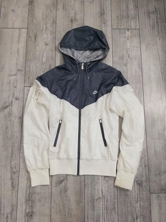 Wiatrówka kurtka Nike Sportswear biało szara Rozm S...