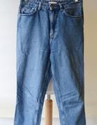Spodnie Jeans Dzinsowe H&M Wyższy Stan M 38 Wyszarpane...