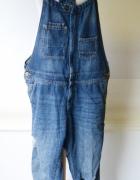 Ogrodniczki Jeans Dzinsowe H&M S 36 Dziury Rurki Dzins...