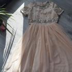 Sukienka ASOS brzoskwiniowa tiulowa tiul nowa cekinki