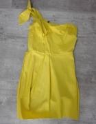 Sukienka krótka 36 XS S 38 na jednym ramiączku WESELE impreza uroczystość