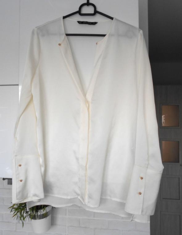 Koszule Zara nowa elegancka satynowa biała koszula