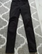 Spodnie czarne stradivarius bardzo wysoki stan roz 34...