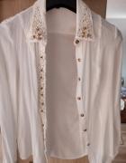 Prześliczna biała koszula z ćwiekami