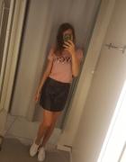 Nowa skorzana spodnica h&m s...