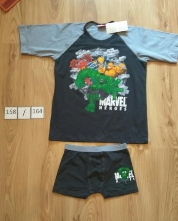 Nowa chłopięce piżama komplet koszulka bokserki Marvel Heroes 158 164