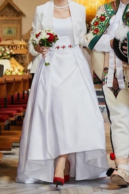 Suknie ślubne Autorska suknia folk inspirowana Gala Kalmia