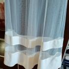 Kremowa suknia z siateczka