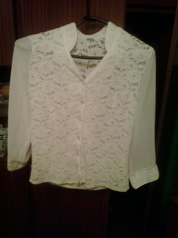 Biała koszula koronka przeźroczysta L letnia w Koszule  OW1zd