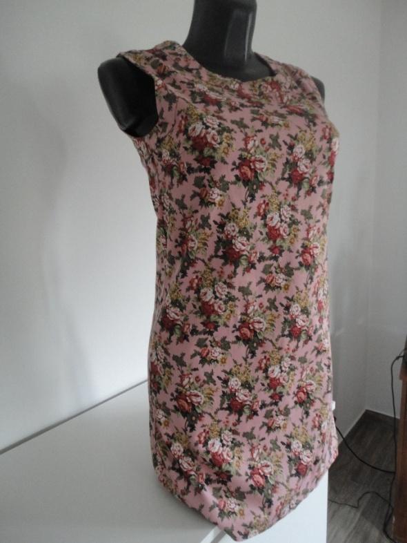 floral boho sukienka XS S