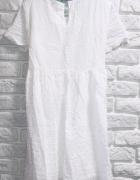 Biała koronkowa sukienka na lato Uniwersalna