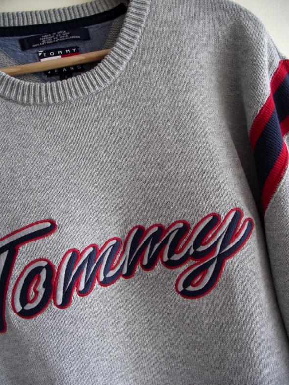Tommy Hilfiger męski szary sweter L...