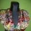Sukienka kwiatki wycięcia falbanki