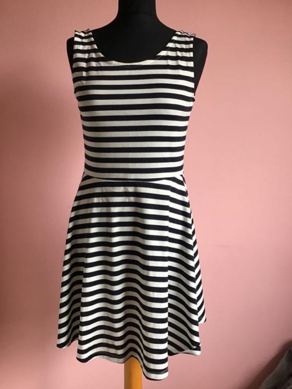 Sukienka H&M w paski XL 42 Tunika