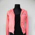 Różowa brzoskwiniowa bluza Hollister z kapturem dr