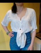 Biała zdobiona bluzka Rozm Uniwersalny