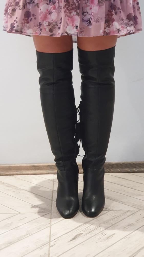 Kozaki Reserved nowe z metka czarne muszkieterki 40 26 cm
