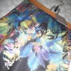 Boohoo nowa czarna krótka spódniczka spódnica w kwiaty liście 38 40