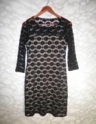 Principles czarna koronkowa sukienka elegancka koronka wzór 36 S