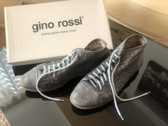 Gino Rossi trzewiki trampki buty niebieskie ażurowe 38...