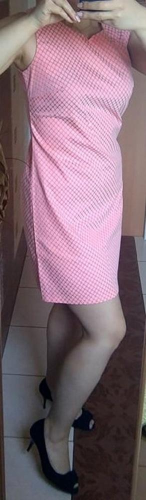 Brzoskwiniowa sukienka wyjściowa