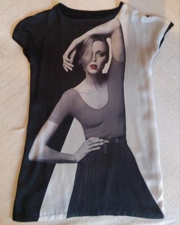 bluzka z motywem kobiety Zara
