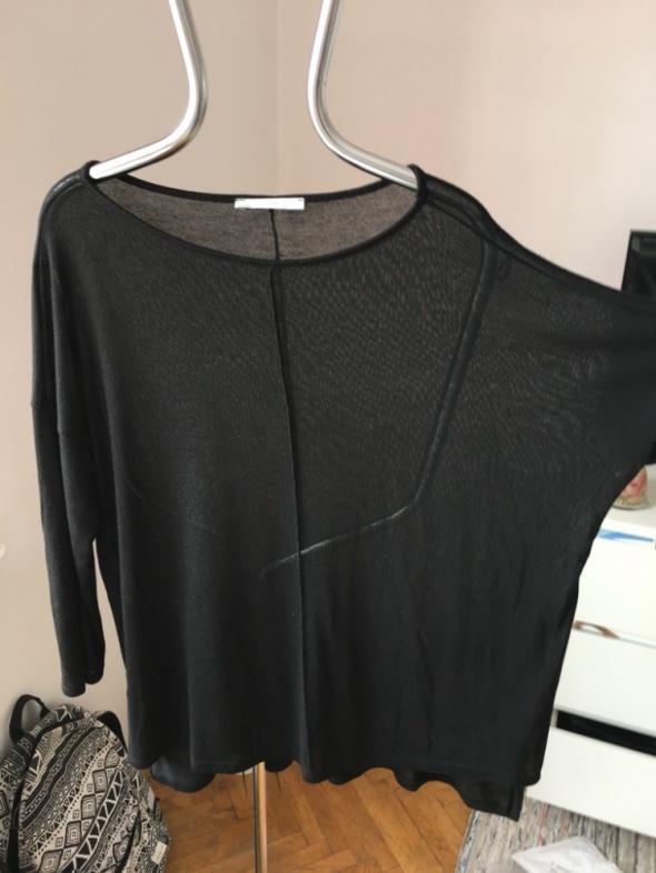 Swetry Czarny sweter szeroki oversize dzianinowy xxxl