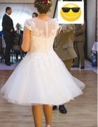 Krótka sukienka ślubna...