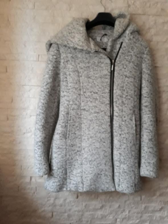 płaszcz zimowy L szary