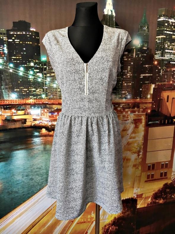 h&m sukienka modny wzór zip nowa casual 40 L