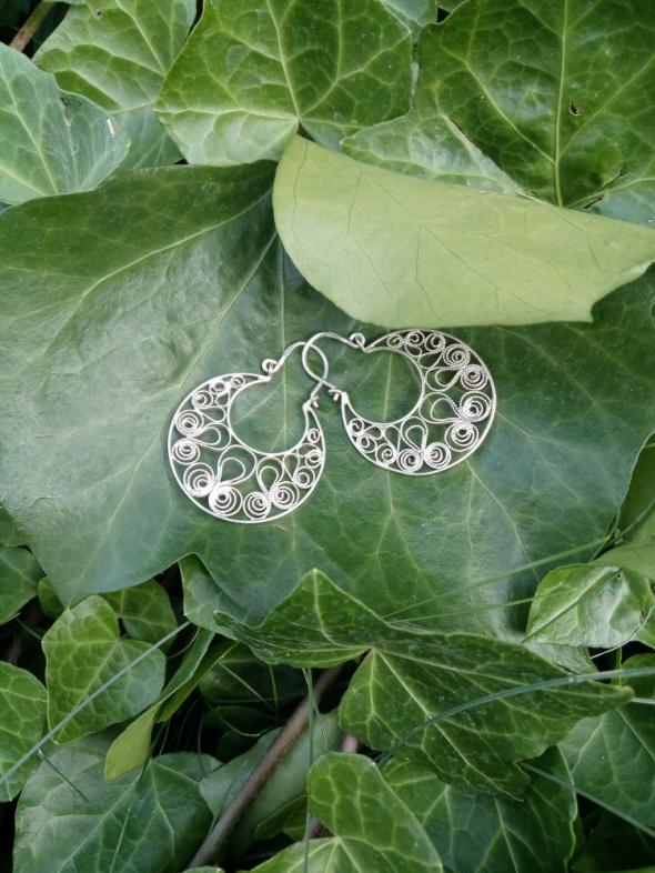 Filigranowe srebrne kolczyki Imago Artis