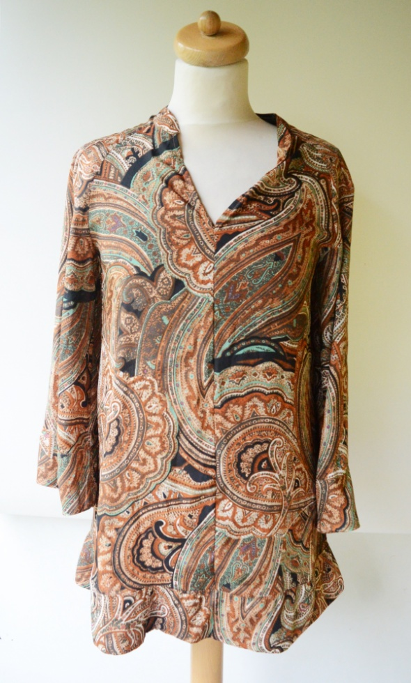 Bluzka Wzory Zara Basic XS 34 Boho Wzorki Modna...