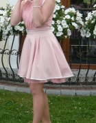 Sukienka pudrowy róż s na wesele