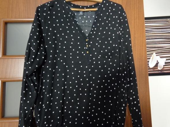 Bluzka czarna w białe groszki F&F