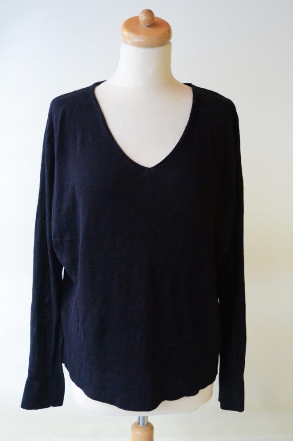 Sweter Oversize Granatowy M 38 H&M Basic...