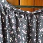 spódnica fioletowa w kwiaty INDIGO