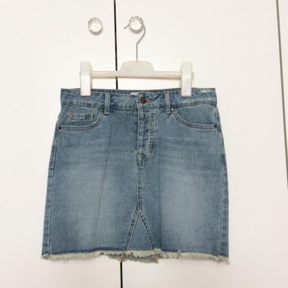 Spódnice New Look spódniczka jeansowa mini dżins klasyczna przetarta must have 34