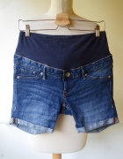 Spodenki Ciążowe H&M Mama L 40 Jeans Dzinsowe Ciąża...