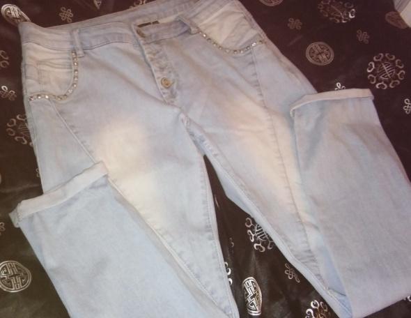 Spodnie Jeans Kappahl 42 Wiosna Błękit idealne proste...