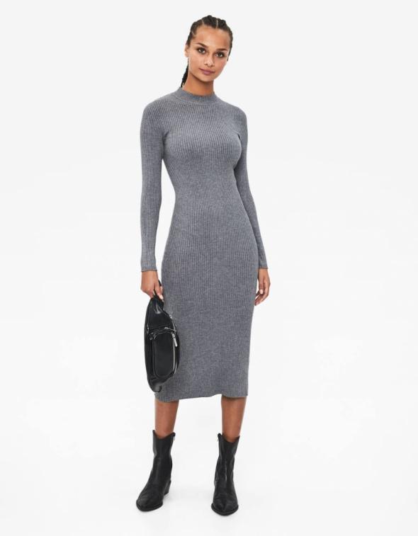 Szara sukienka prążek