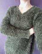 Włochaty sweter H&m oversize