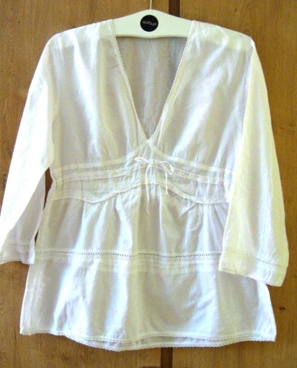 biała bluzka L H&M
